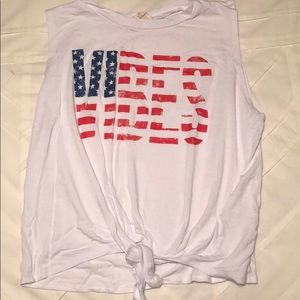 Fourth of July themed tank